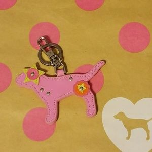 VS PINK Dog Leather Keychain *RARE*